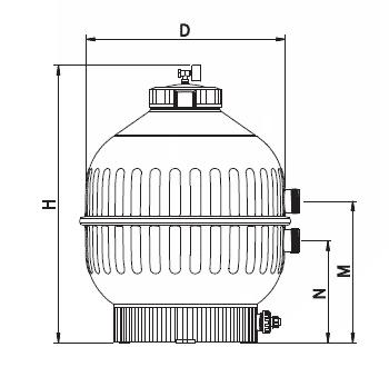 Filtr Cantabric pro boční ventil